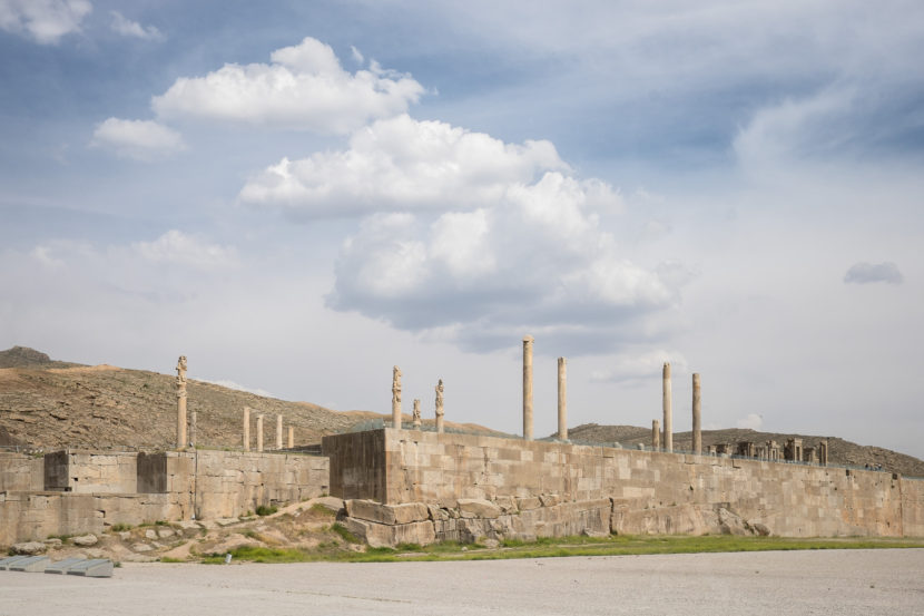 View of the terrace of Persepolis, Iran